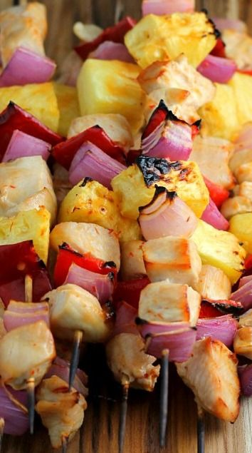 Skewers are always a good idea and the possibilities are endless!!