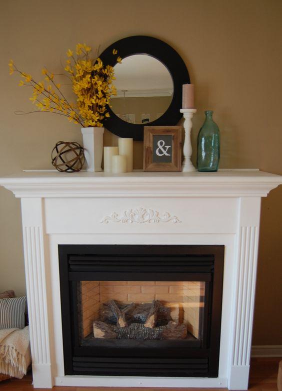 Chalk Paint Fireplace Facelift