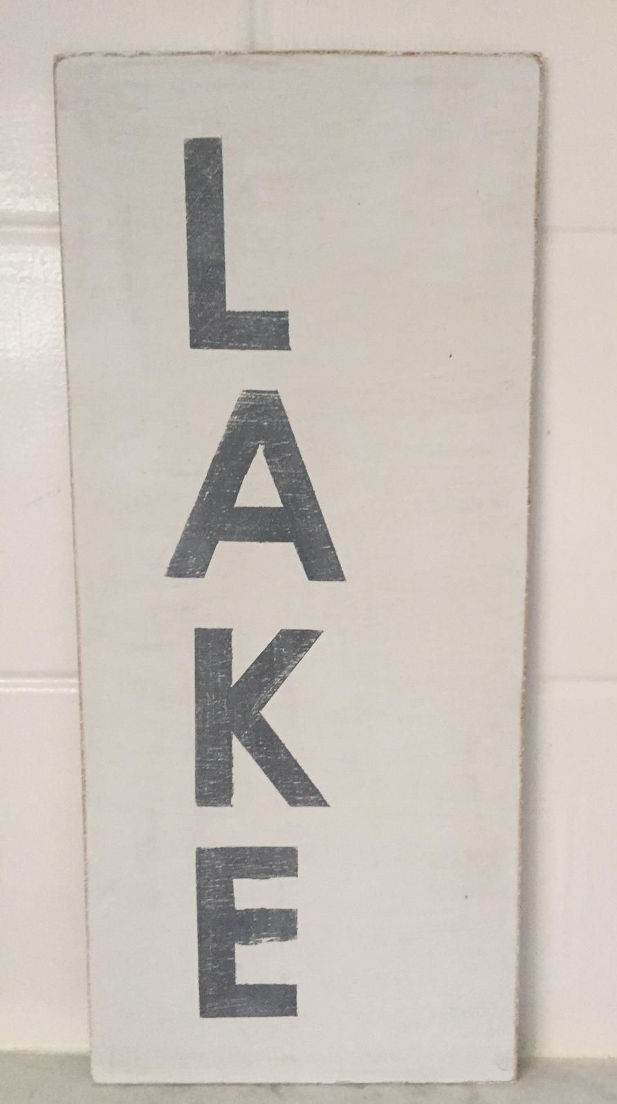 'LAKE' Sign