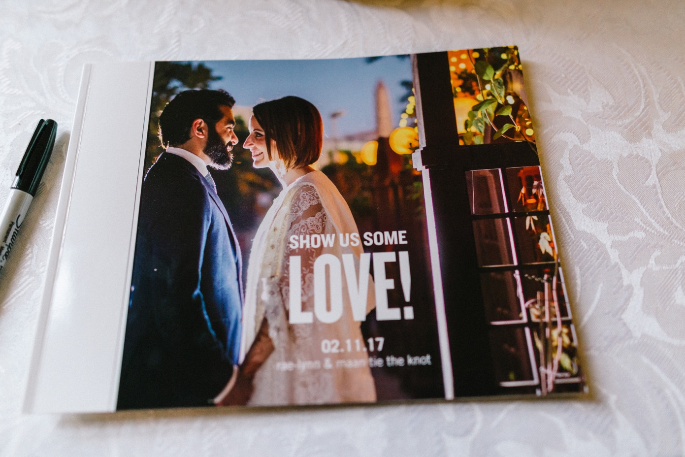 Photo guestbook made by Shutterfly