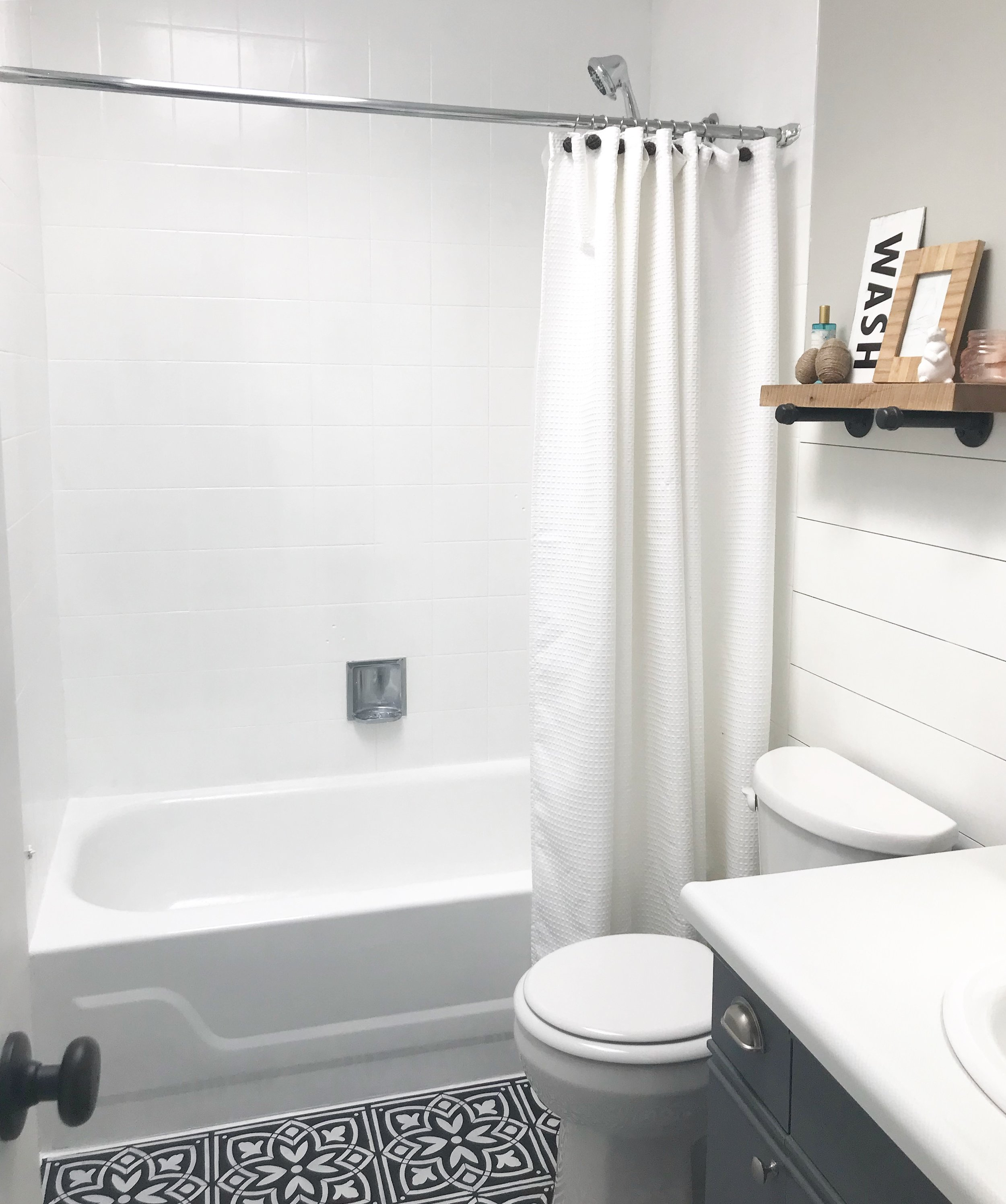 After- the finished product :) :) :) plus a new shower head !
