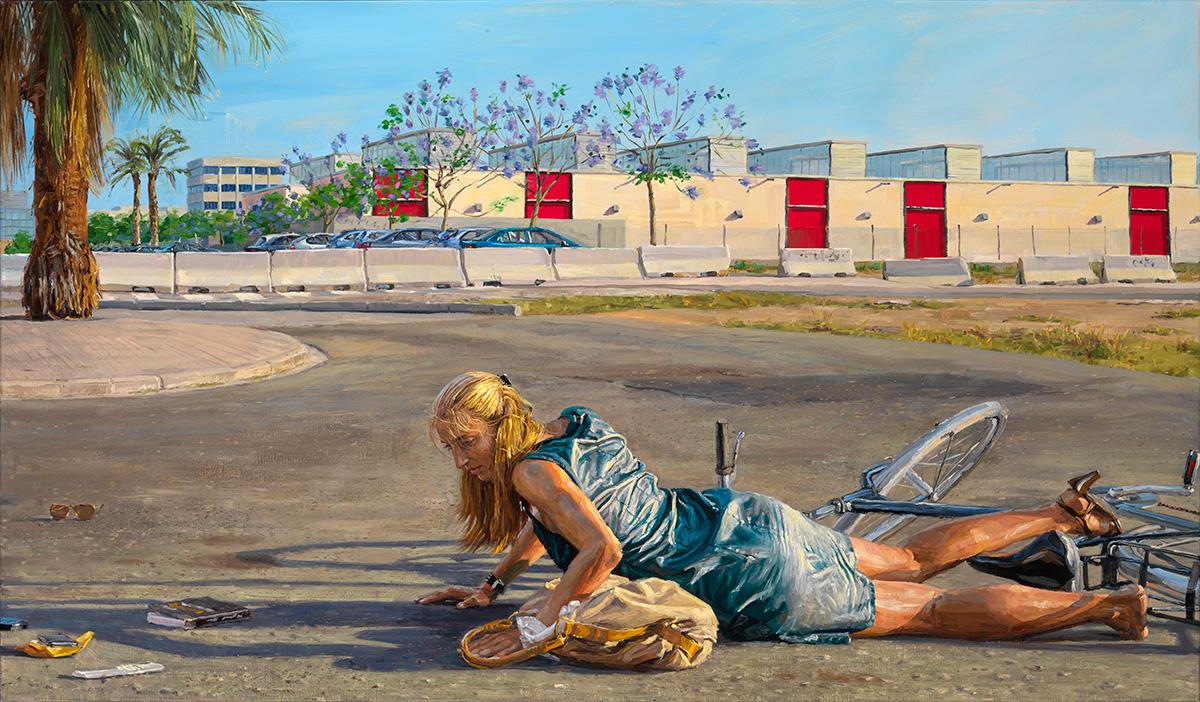 The Fall, 2014, oil on linen, 105x180cm