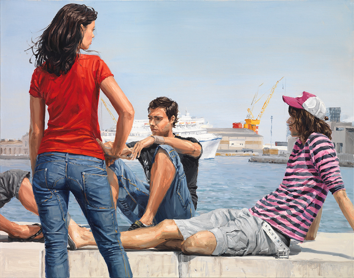 Beyond the Docks, 2009, oil on linen, 114x146cm