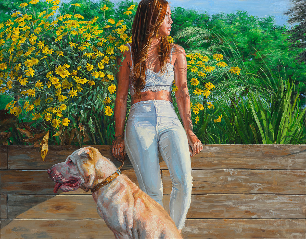 Girl and Dog, 2014, oil on canvas, 114x146cm