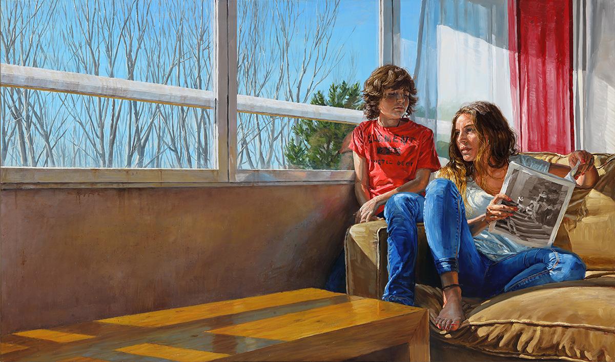 Winter Sun, 2014, oil on canvas, 114x195cm