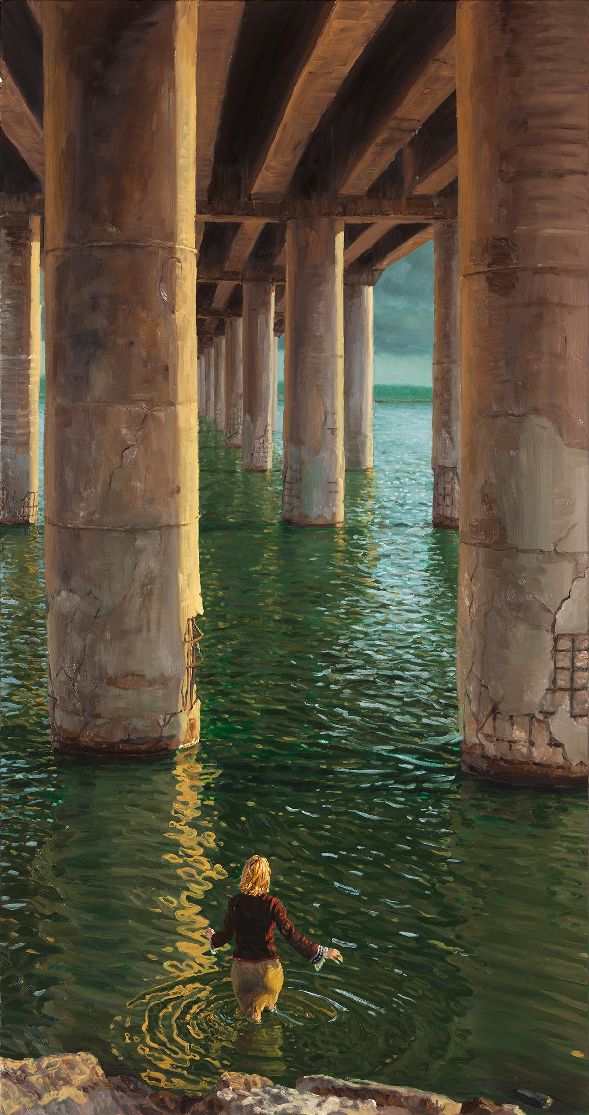 The Passage, 2011, oil on linen, 170 X 90 cm