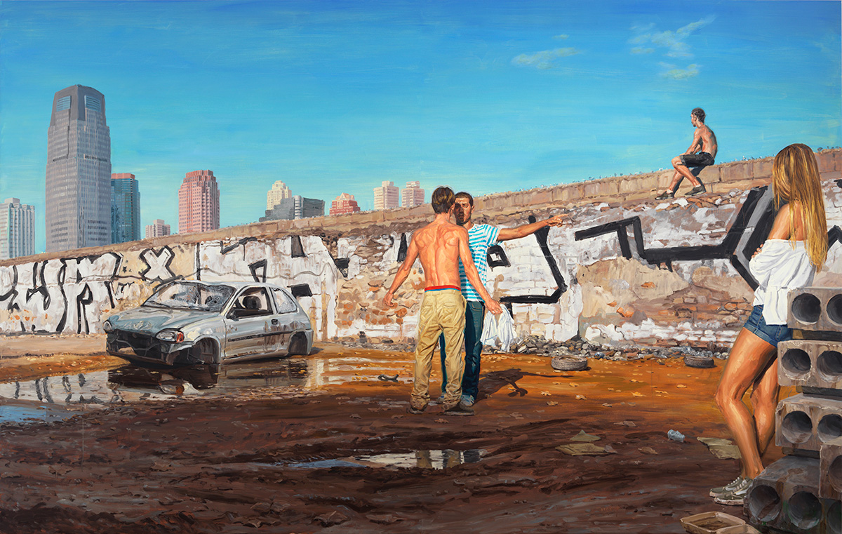 The Other Side, 2011, oil on linen, 190x300cm