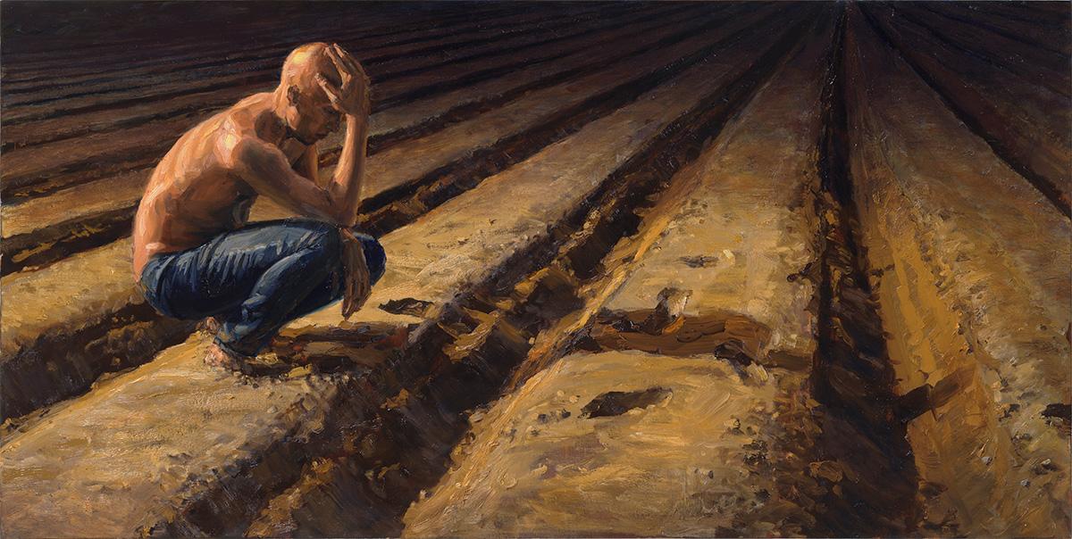 Night Thinker, 2013, oil on linen, 60x120cm