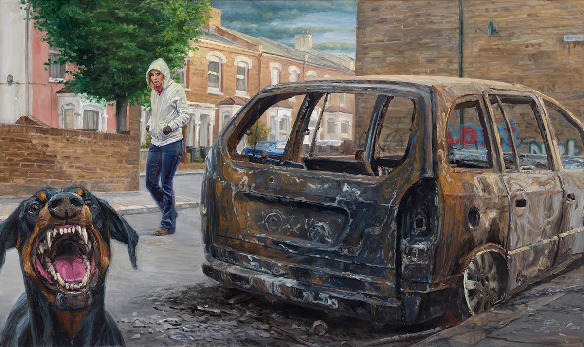 Rage, 2012, oil on linen, 95x160cm