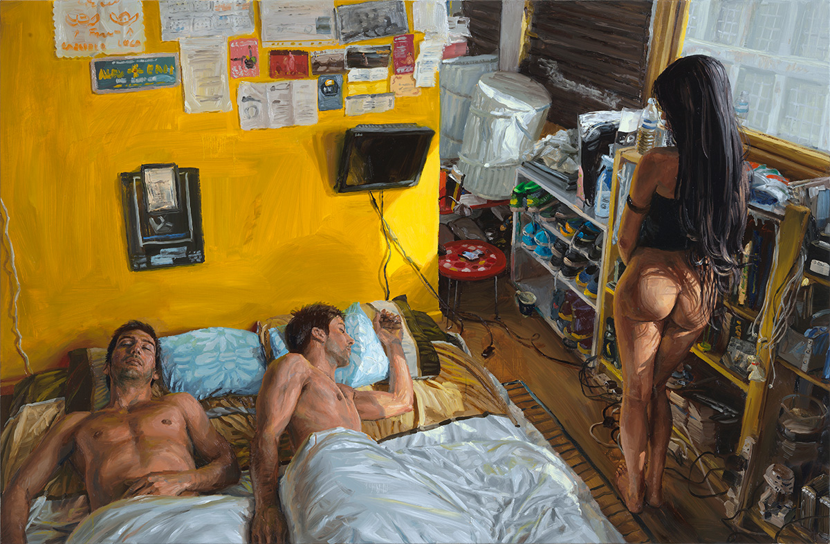 The Twins, 2013, oil on linen, 105x160cm
