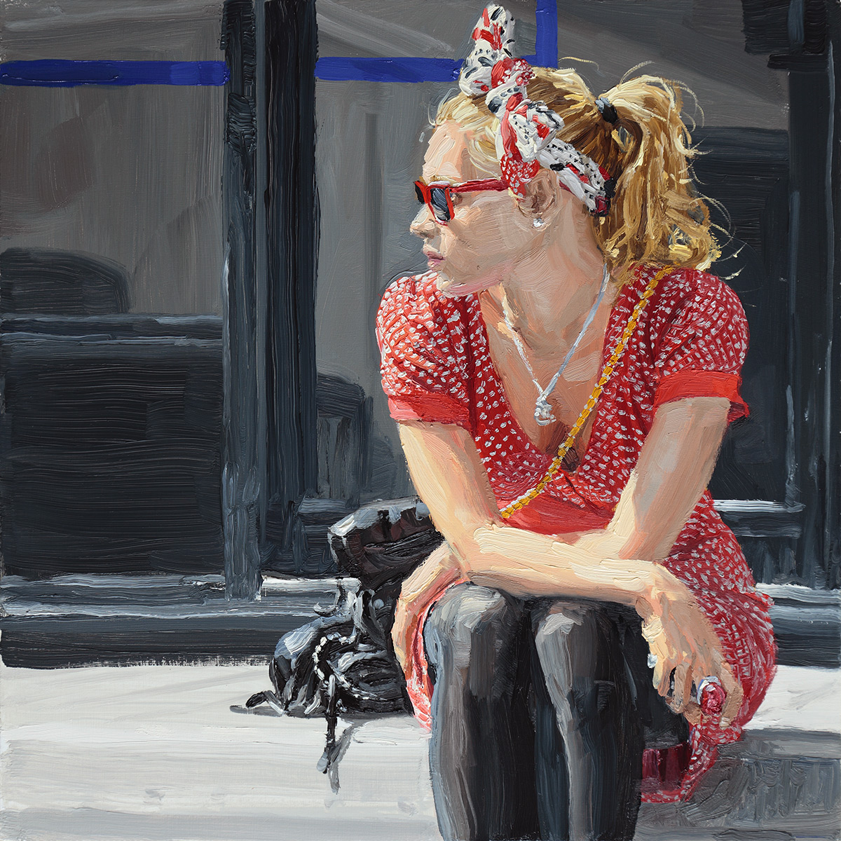 girl-blonde-red-dress-sunglasses-40x40cm.jpg