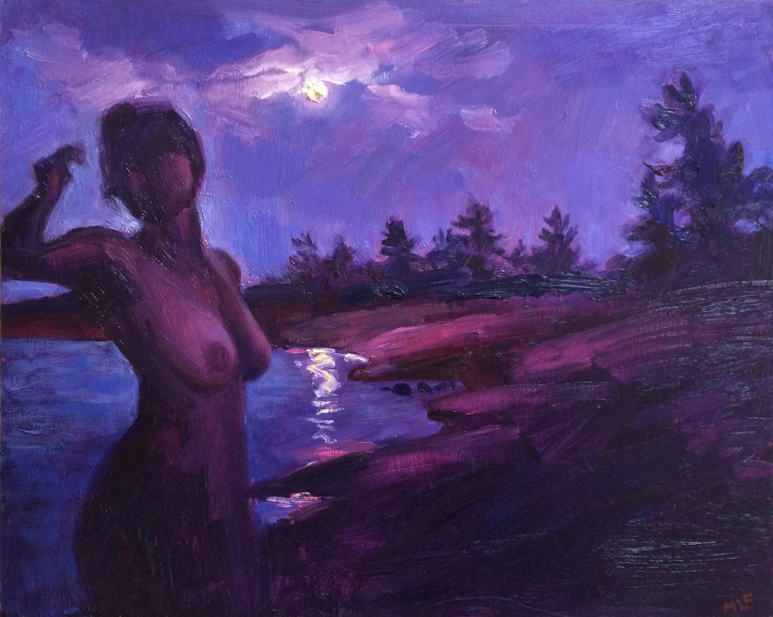 Spring Skinny Dip, Oil on Canvas, 16 x 20, SOLD