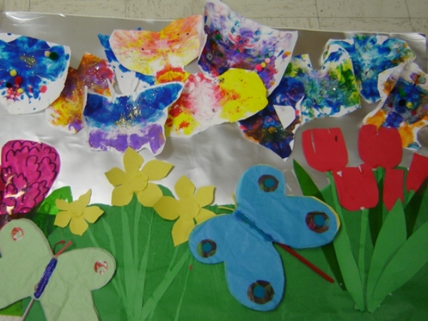 Butterfly Printing and Wellies