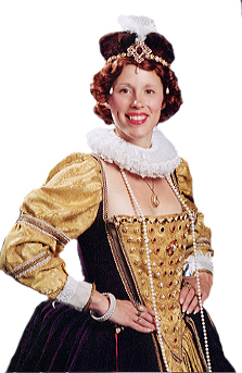"Mary Ann Jung as Queen Elizabeth I,  ""Good Queen Bess"""