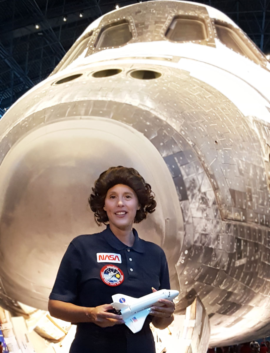 Mary Ann Jung as Astronaut Sally Ride