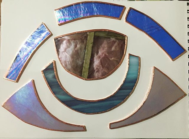 Process of my favorite eye I've made so far! #process #stainedglass #eye