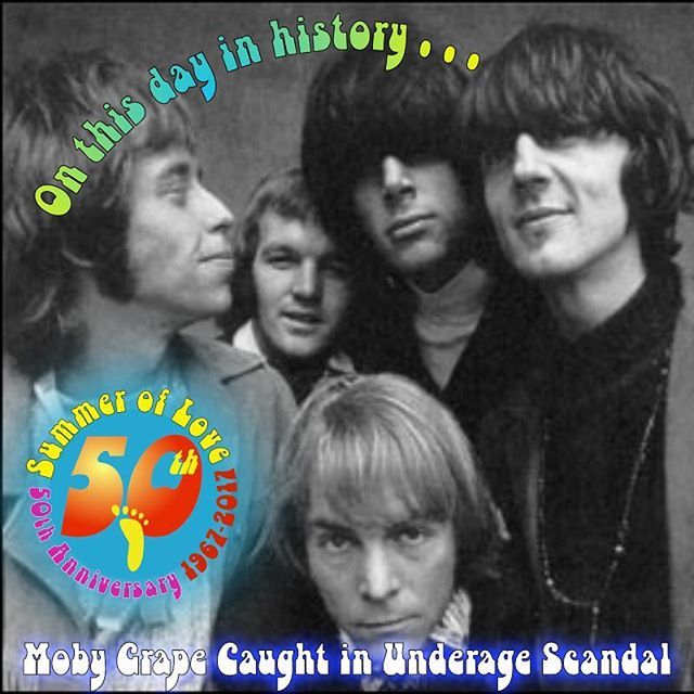 On this day in 1967—during the #SummerofLove—two members of the #SanFrancisco #psychedelic #folk #rock band #MobyGrape were arrested for contributing to the delinquency of three female minors.  Moby Grape, who were approached by seven major recording labels by the end of 1966, might be the epitome of how the Summer of Love became the Winter of Discontent. Their debut album, also called Moby Grape, was released just two days earlier, and the band was set to be the Bay Area's next big thing.  But #sex, #drugs, and #rock-n-roll got into the mix, and the five composer-singer-musicians were never able to capitalize on their talents. (Some bad management may be to blame, too.) You can learn more about the 50th anniversary of the Summer of Love and the important role music played in the San Francisco counterculture scene on a FOOT fun walking tour. And you can get half-off tickets on select tours on #Goldstar.  #ThisDayInHistory #walkingtours #SummerofLove50 #history #Psychedelic60s