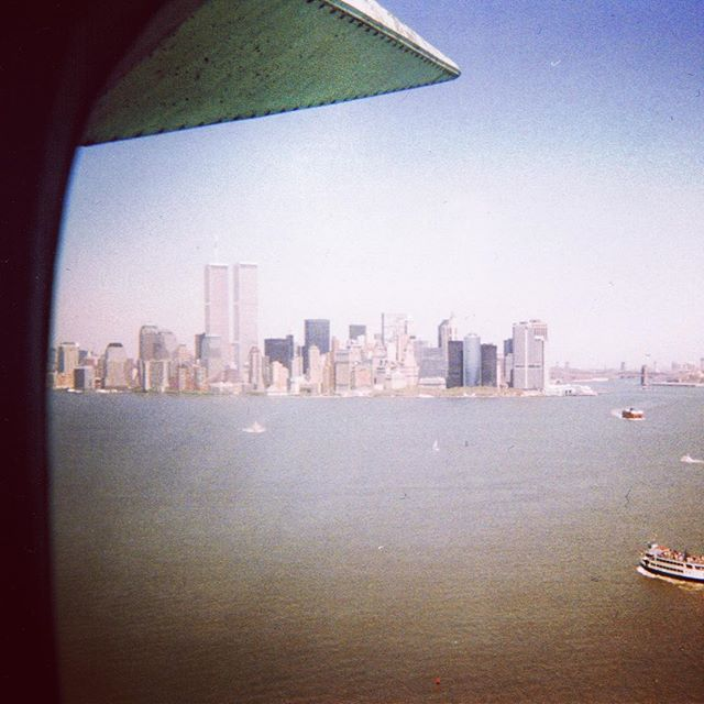 I've seen the towers just once in my life. May of 1997. Back then you could climb up into the crown of Lady Liberty and look across to see the greatest city in the world, and the towers standing proud and tall.  How naive we all were. No fear of terrorists. Safe in our bubbles. 9/11/2001 changed our lives forever.  #neverforget