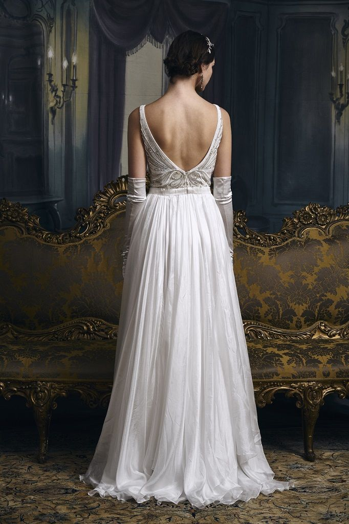 Eliza Jane Howell Wedding Dress Grace back