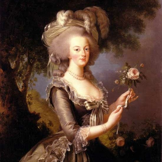 Georgiana and her friend Marie Antoinette (above) were the fashion trend-setters of their day.