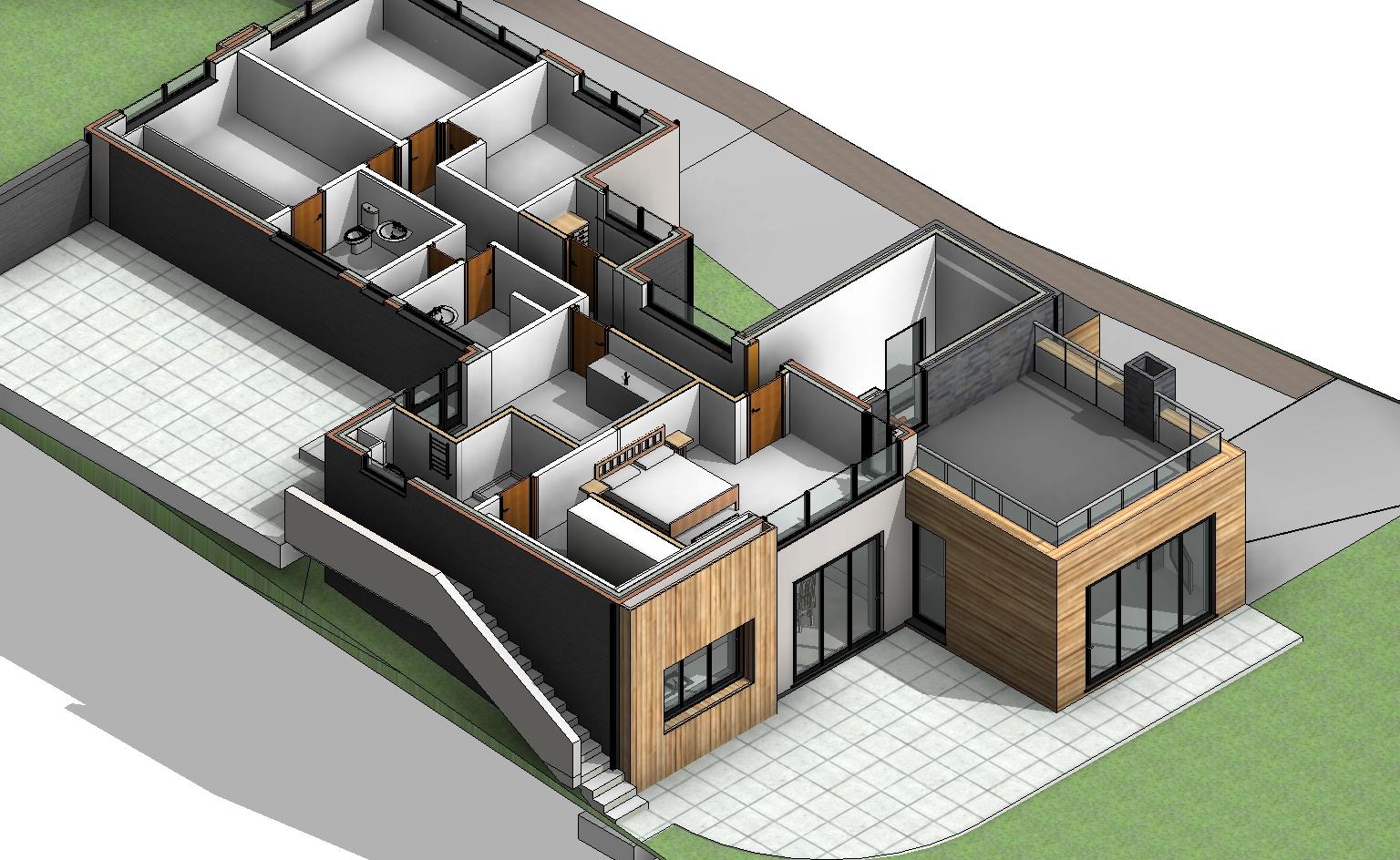 3D cut floor plan