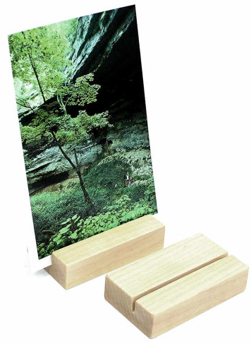 Wood Block Photo Holder by HappyBungalow shop