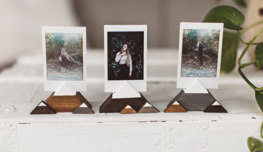 Mountain Wooden Photo Holders by Shophumble shop