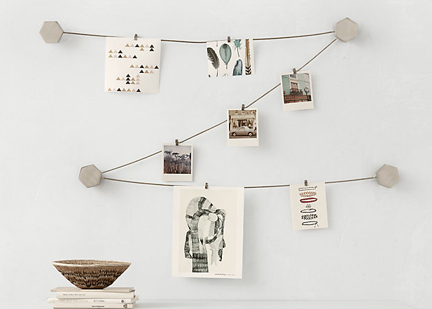 Cast-metal wire photo display by RHTEEN