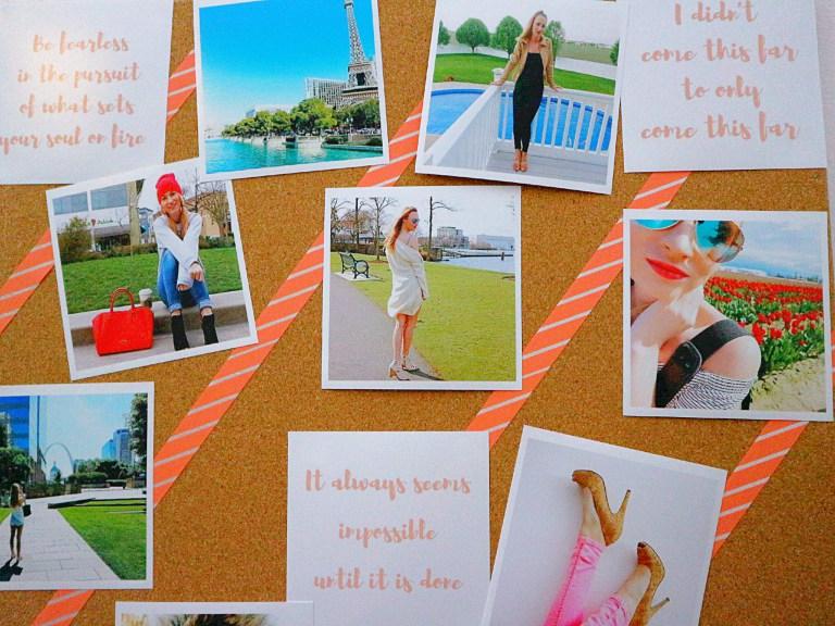 Room decor ideas using photo prints - Mood board