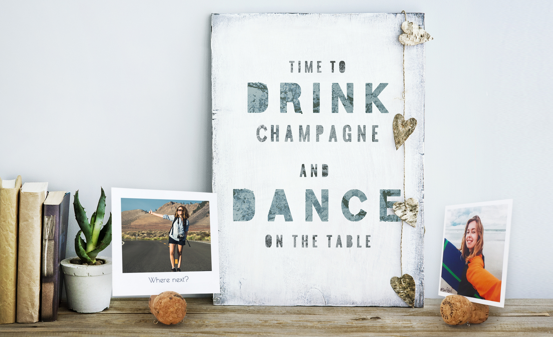 DIY Cork Photo Stand