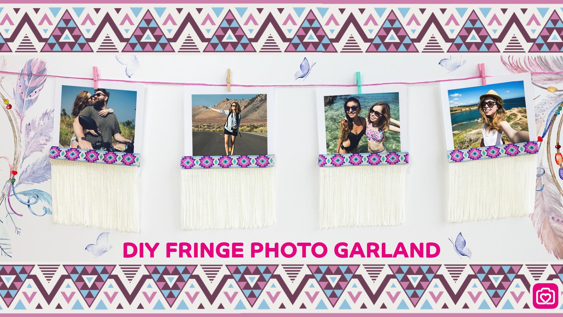 DIY Fringe Photo Garland