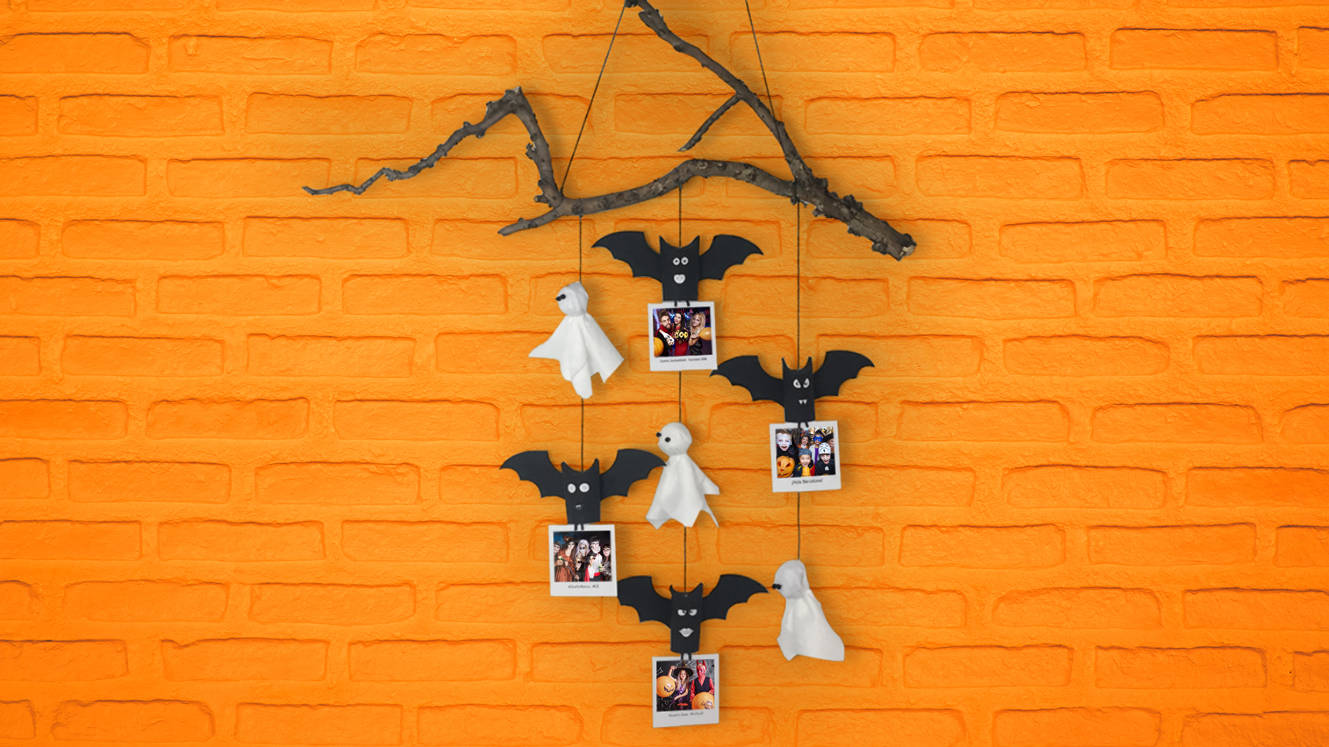 DIY Spooky Photo Garland