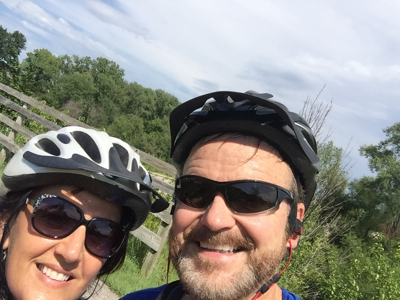 One of our dates:  out bike riding!  Healthy AND inexpensive!