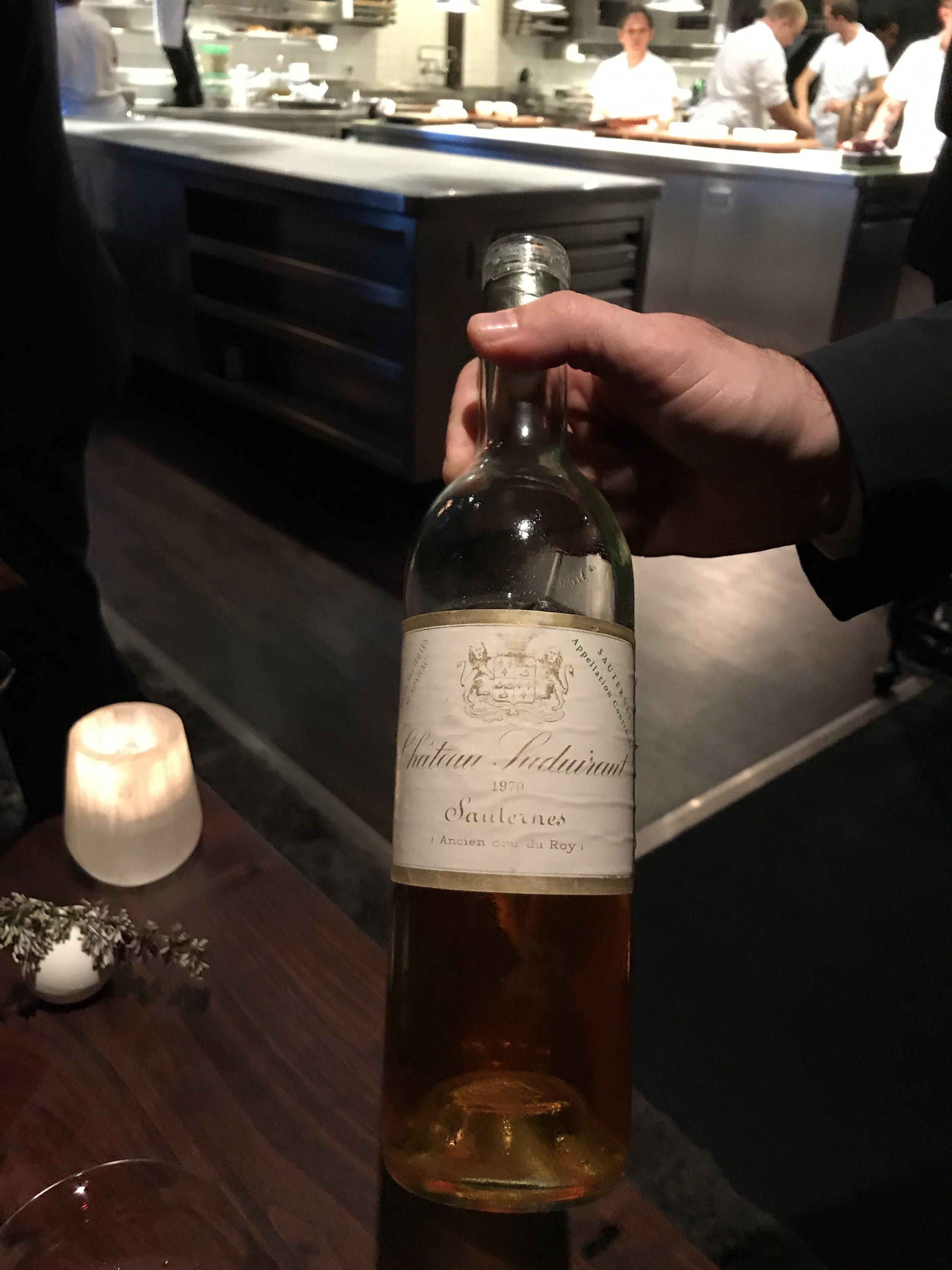 1970 Sauternes dessert wine