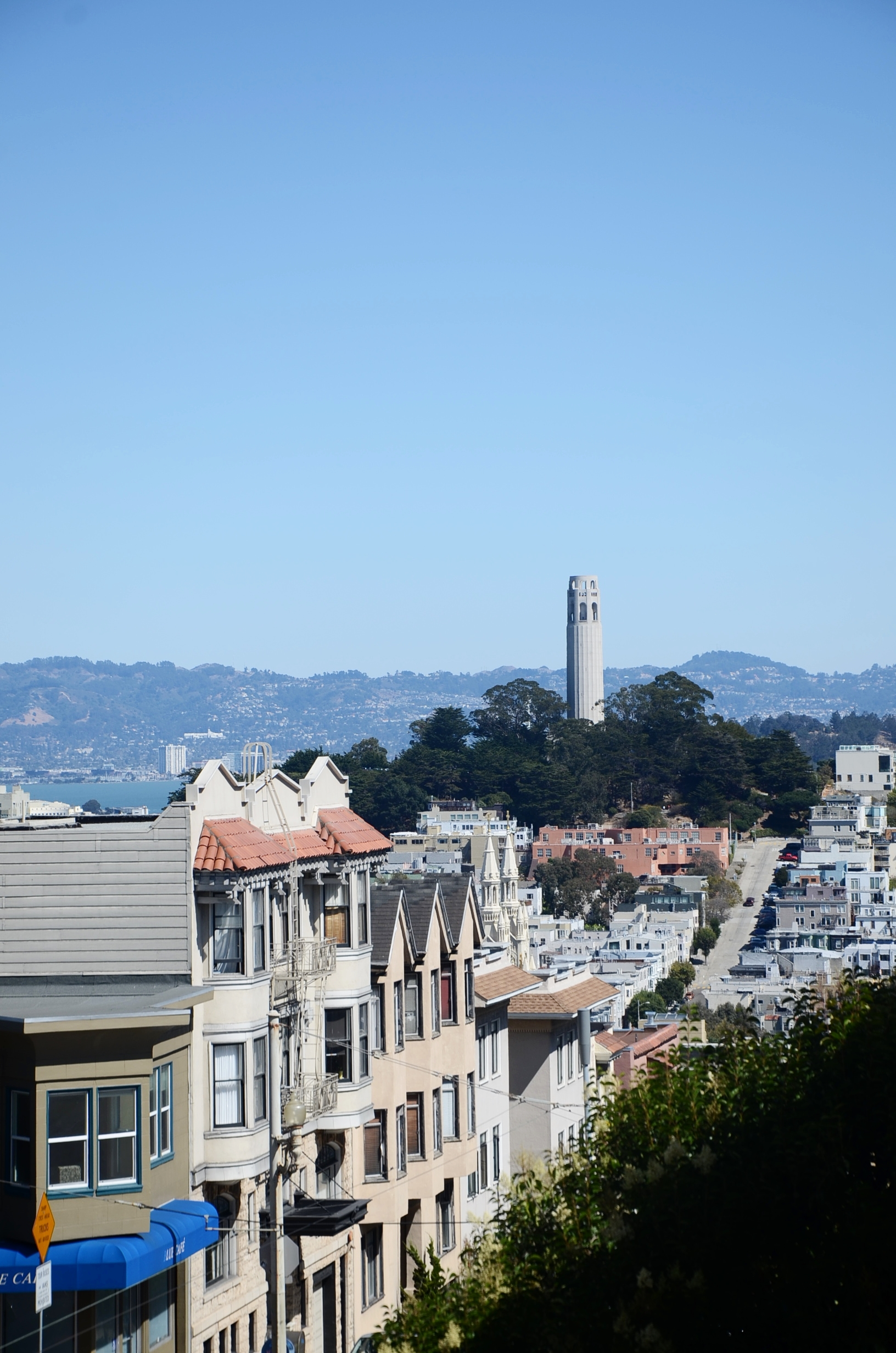 Coit Tower to the right