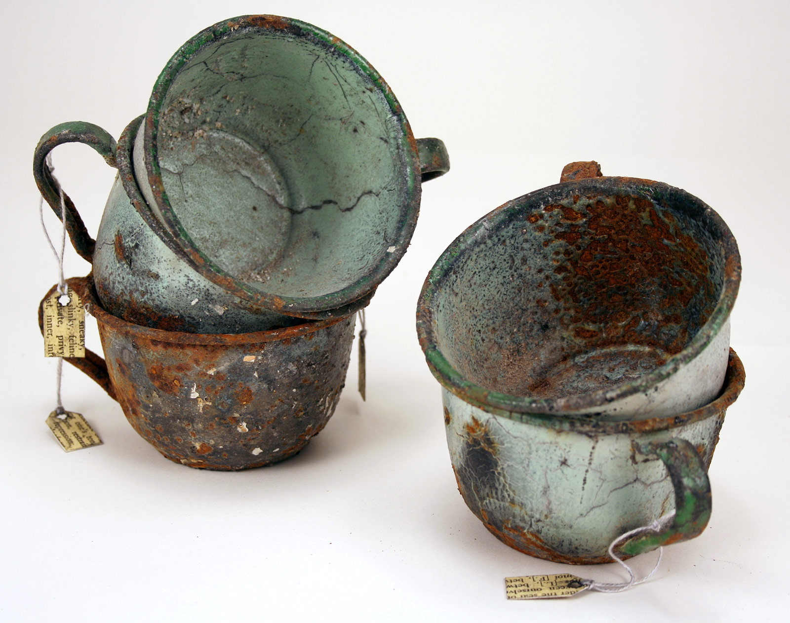 Marnette recalls things left unsaid: Five enamel cups