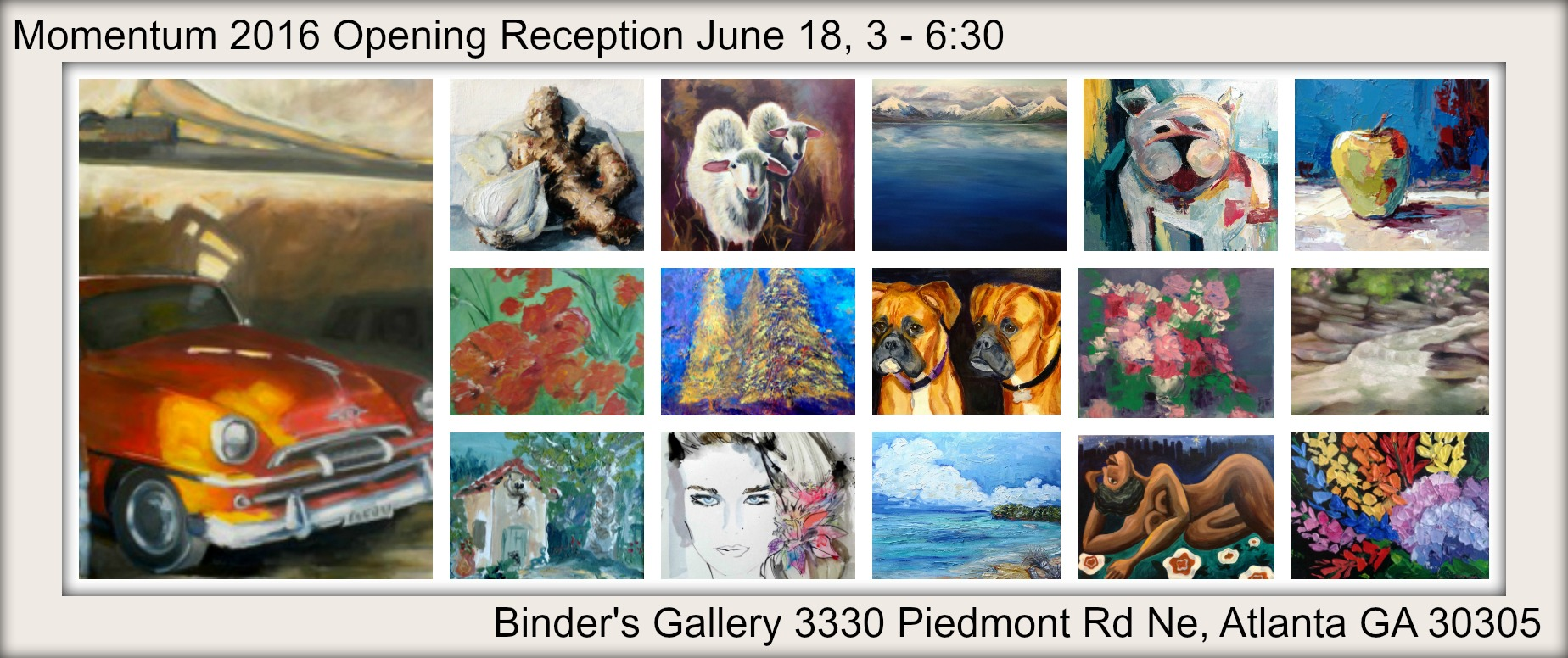 Stop by and see the wonderful art created by 19 local artists