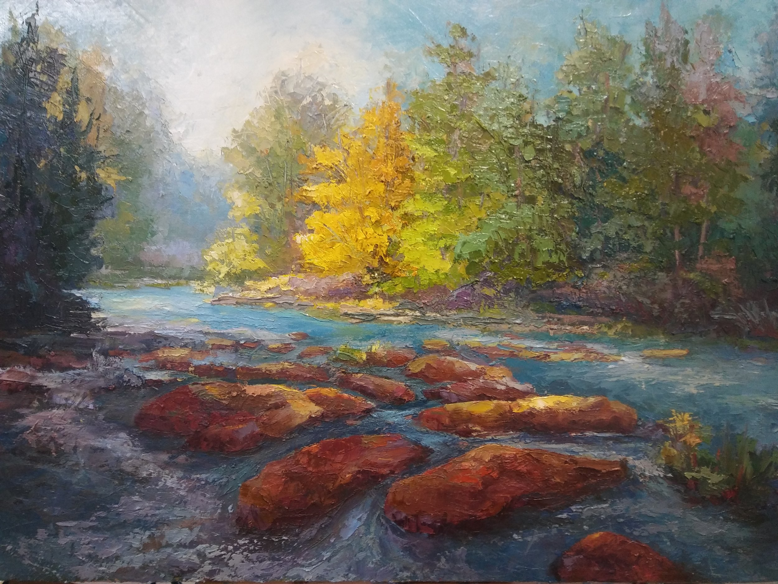 Tallulah River 24 x 36 oil on canvas
