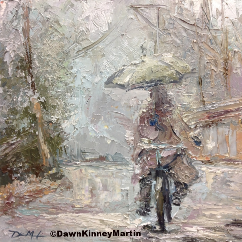 """Snow Day!"" 10 x 10 oil on panel    SOLD"