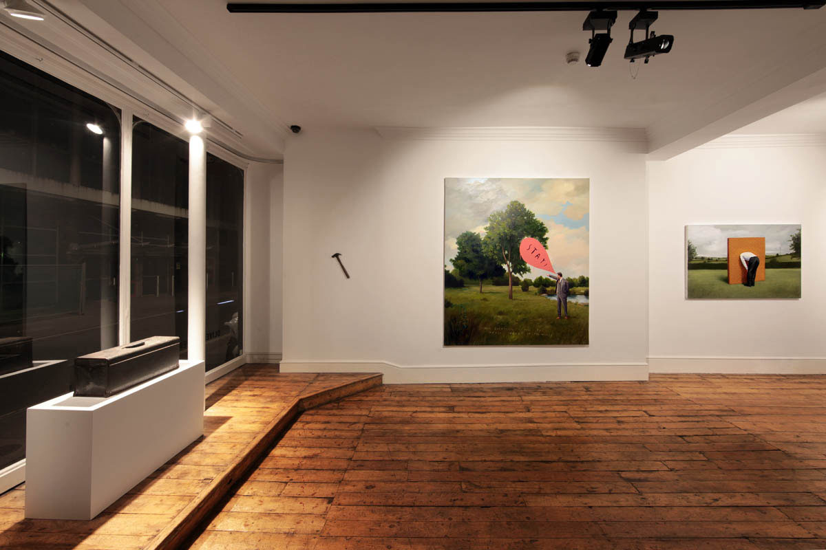 Installation view of  Nothing to See Here , LAZinc., London, 2013