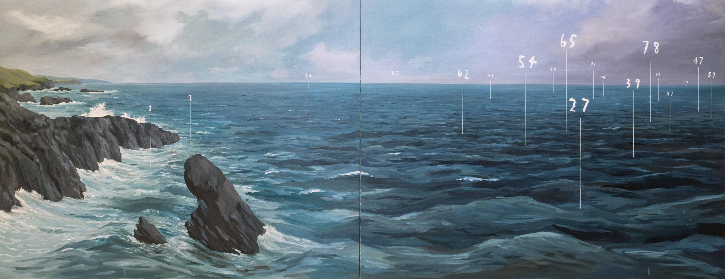 Coastal Fathom Painting  , 2016