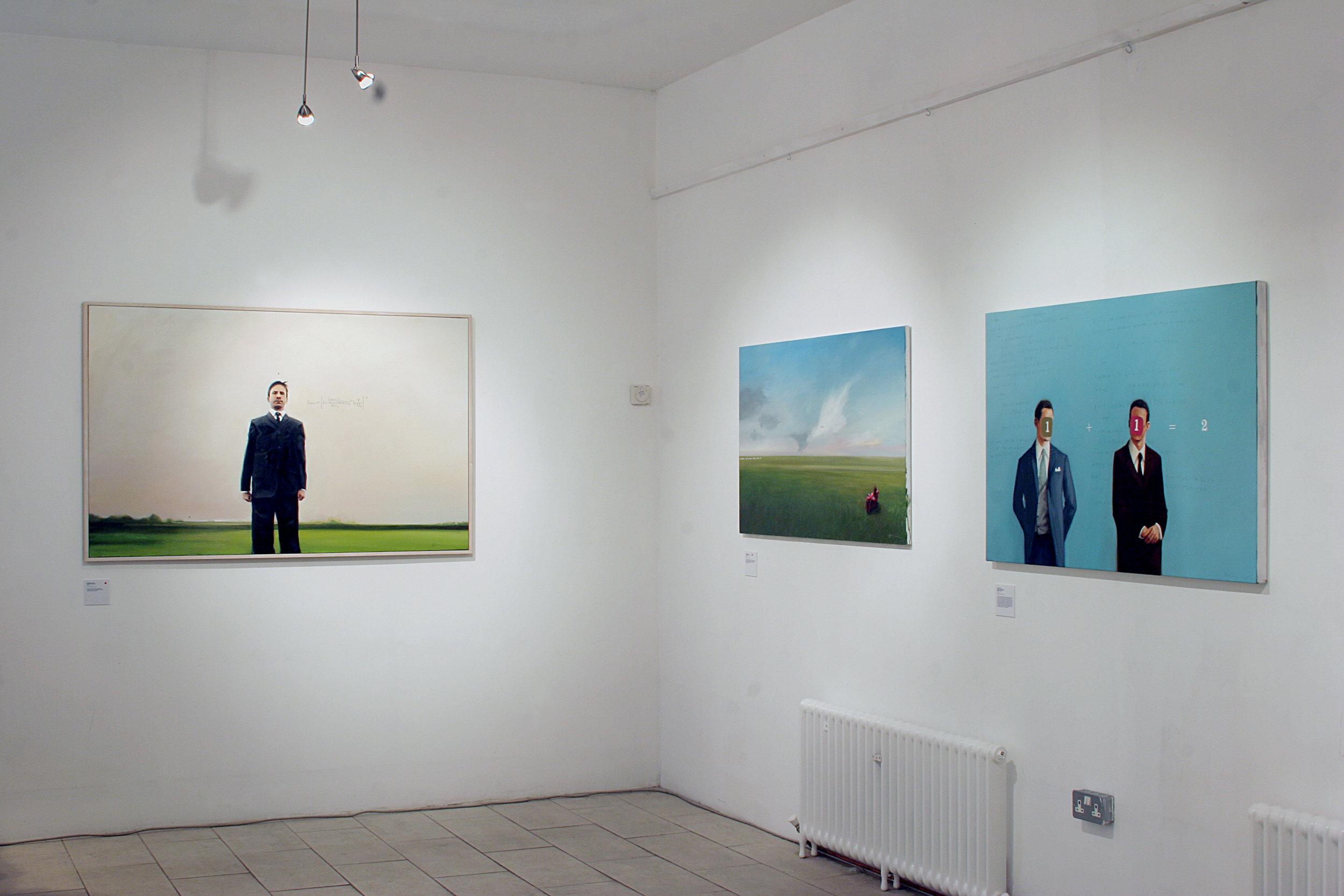 Installation view of  Additional Information,  52 Hill Street, Belfast, Ireland, 2006