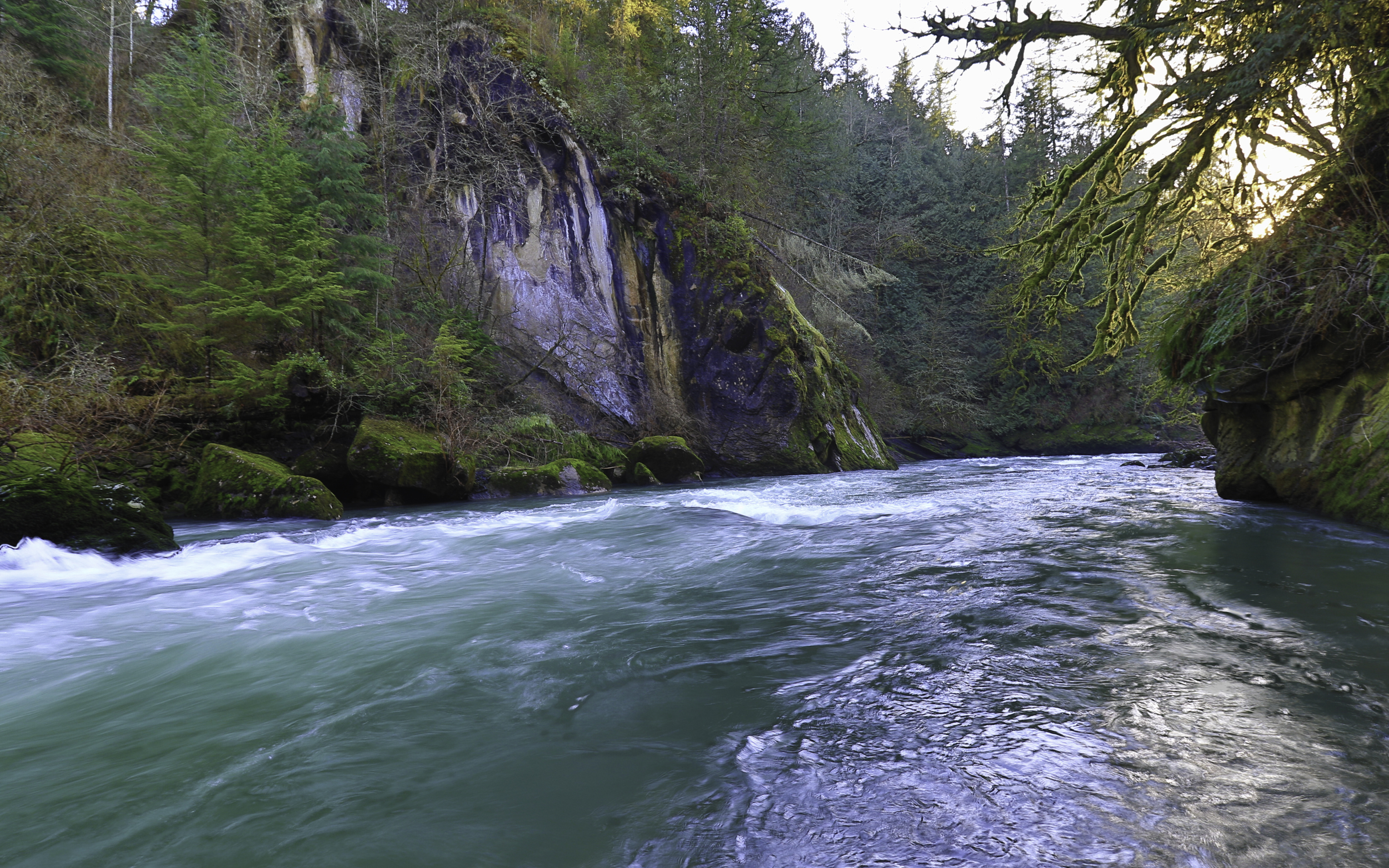Evening on the Green River Gorge