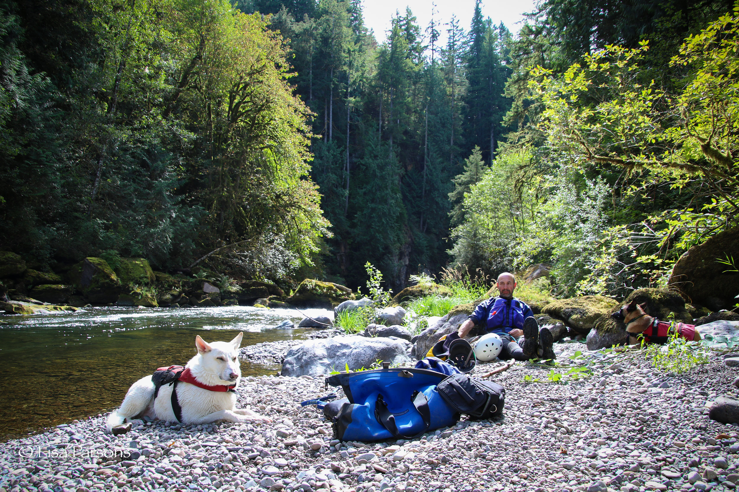 Taking a much needed break between the two rapids Mercury and the Nozzle. The two most notable rapids in the gorge.