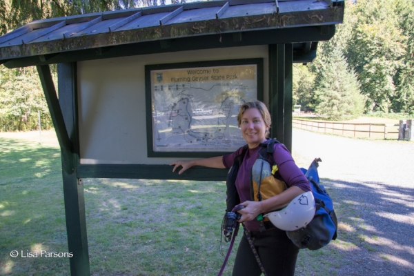 Lisa on her final day of hiking the entire 12 mile long Green River Gorge