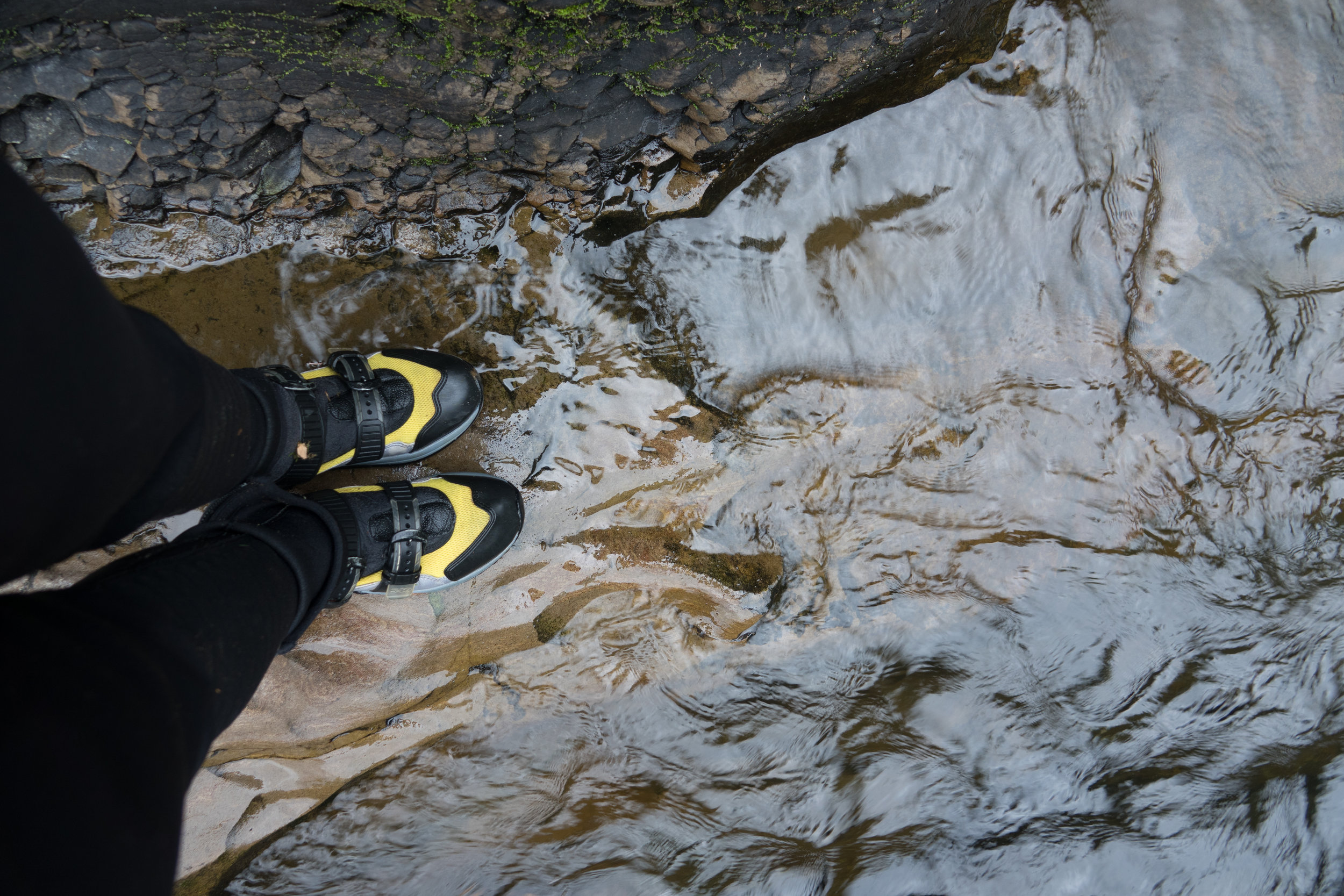 My Canyoneering shoes on a sandstone shelf in the Green River Gorge. In 2016 I hiked the entire twelve mile Green River Gorge.
