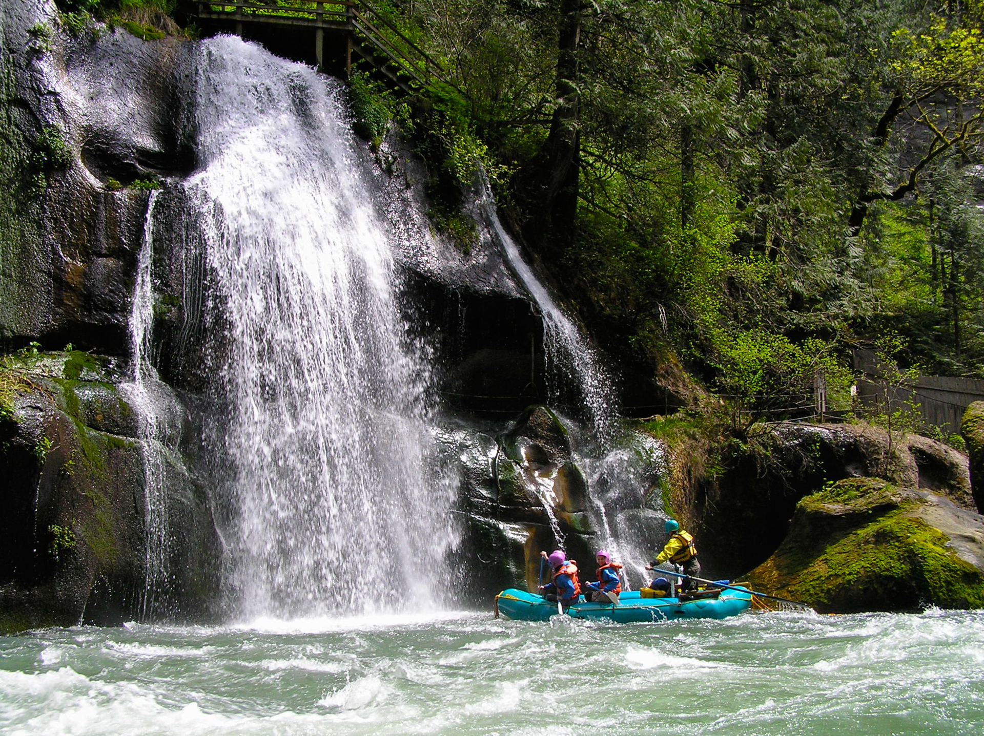 Casey Garland of Downstream River Runners below Paradise Falls in the Green River Gorge