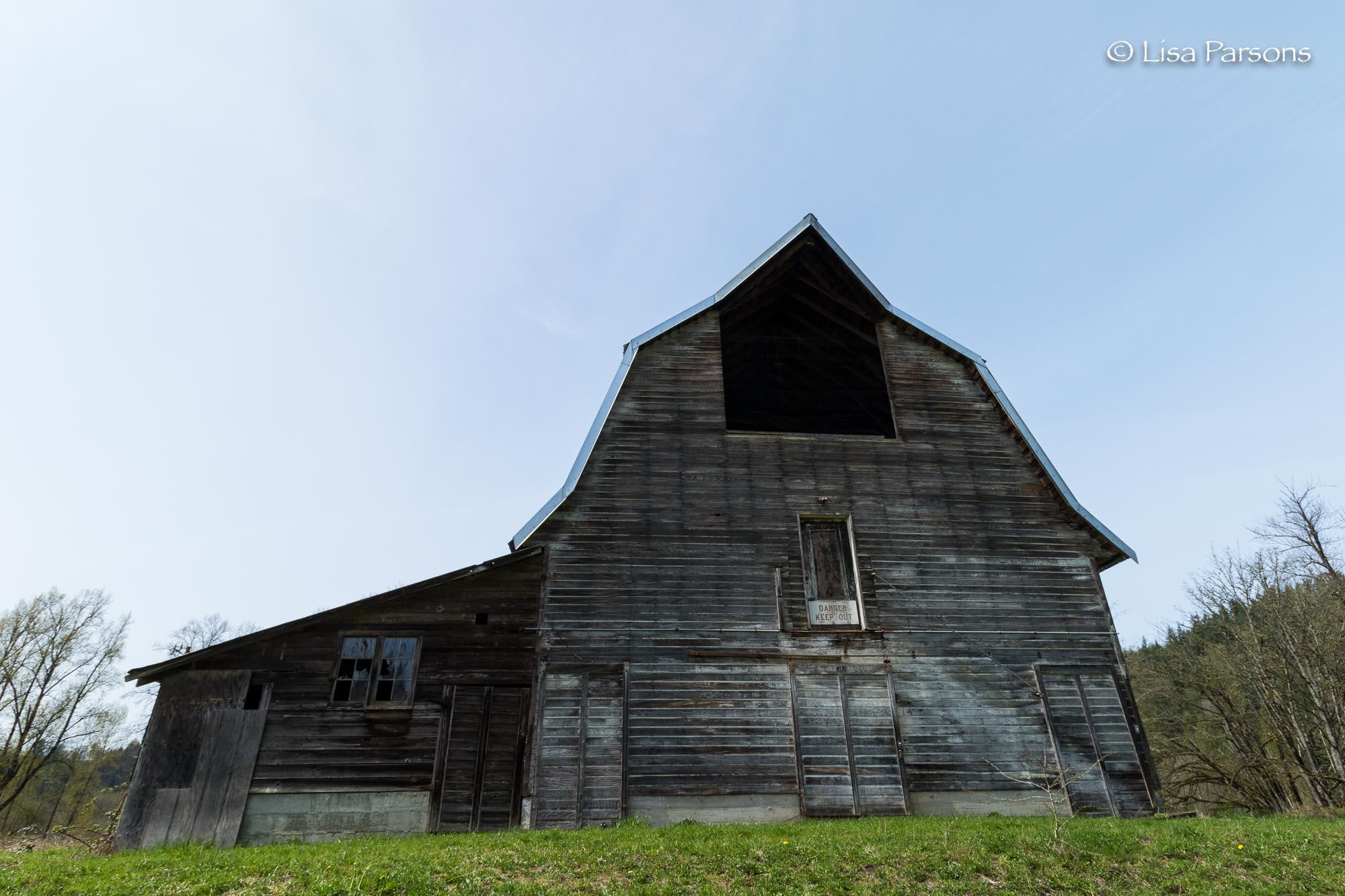 Old Weathered Grey Barn