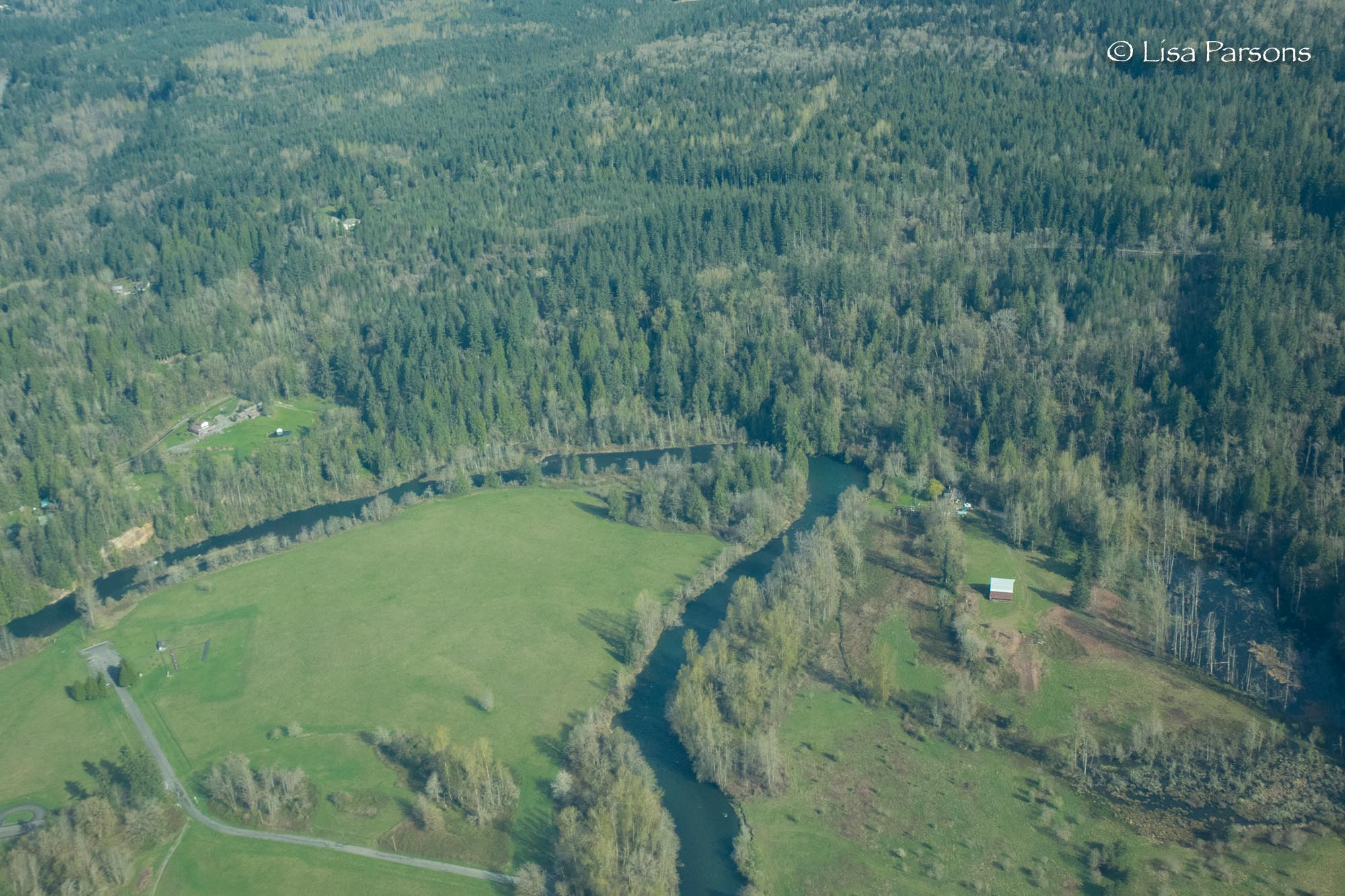 Aerial of Flaming Geyser State Park