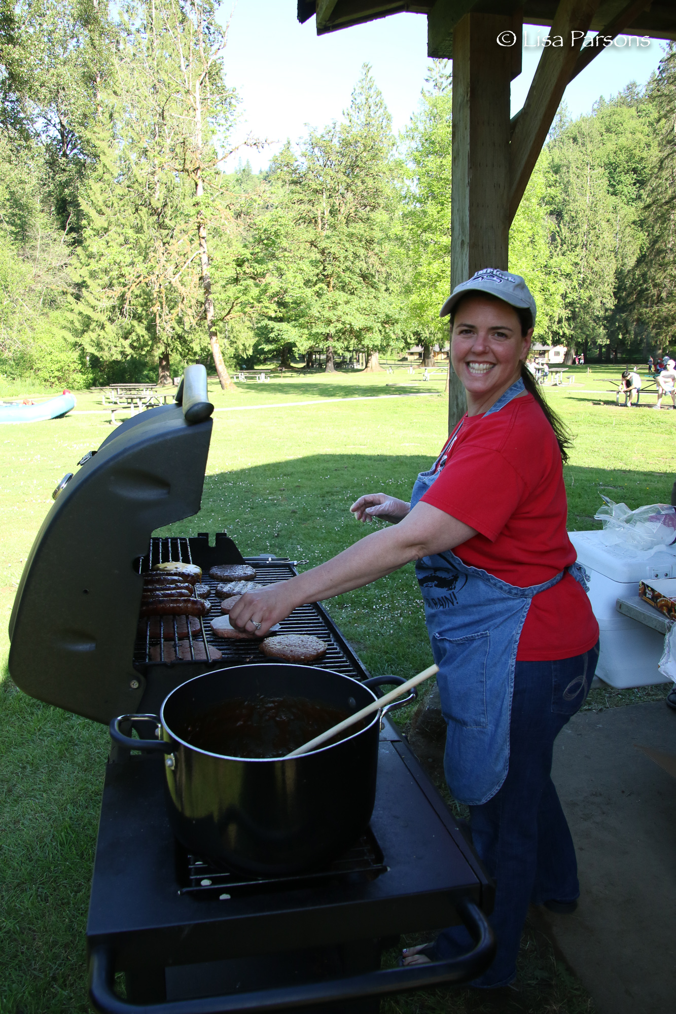 Help with the BBQ at Flaming Geyser